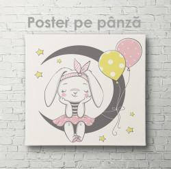 Poster, Iepuraș pe lună