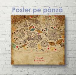 Poster, Imprimare florală pe hârtie de epocă