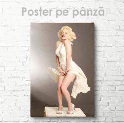 Poster, Marlin Monroe în rochie albă