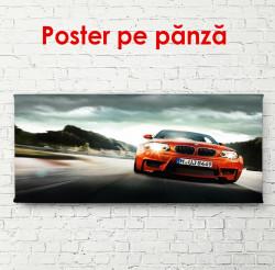 Poster, Mașină roșie pe drum