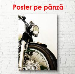 Poster, Motocicletă pe un fundal alb