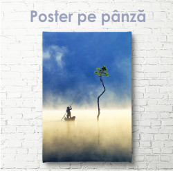 Poster, Om care navighează pe o barcă