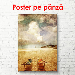 Poster, Plaja în stil vintage