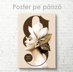 Poster, Profilul unei domnișoare pe copertă