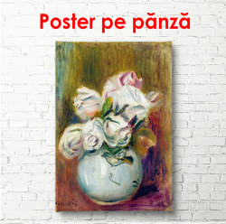 Poster, Vaza cu flori albe