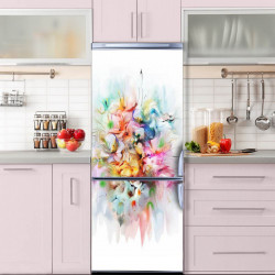 Stickere 3D pentru uși, Buchetul de culori, 1 foaie de 80 x 200 cm