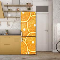 Stickere 3D pentru uși, Felii de portocale , 1 foaie de 80 x 200 cm