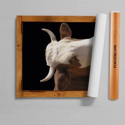 Stickere 3D pentru uși, Grajdul animalelor , 1 foaie de 80 x 200 cm