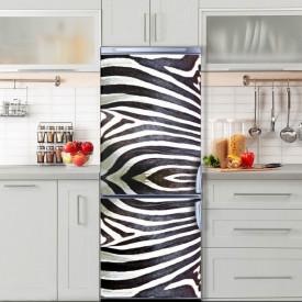 Stickere 3D pentru uși, Print de zebră, 1 foaie de 80 x 200 cm