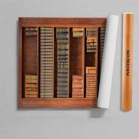 Stickere 3D pentru uși, Rafturi cu cărți , 1 foaie de 80 x 200 cm