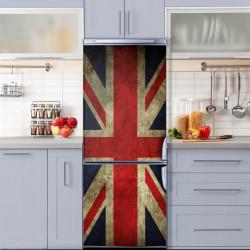 Stickere 3D pentru uși, Steagul Marii Britanii, 1 foaie de 80 x 200 cm