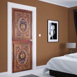 Stickere 3D pentru uși, Textură bogată, 1 foaie de 80 x 200 cm