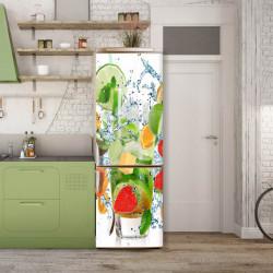Stickere 3D pentru uși, Un cocktail de fructe, 1 foaie de 80 x 200 cm