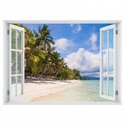 Stickere pentru pereți, Fereastra cu vedere spre o plajă minunată