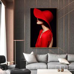 Tablou, Fată în pălărie roșie
