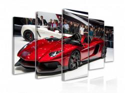 Tablou modular, Lamborghini roșu