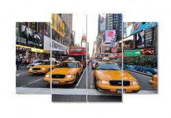 Tablou modular, Mașini de taxi în oraș