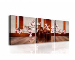 Tablou modular, Sakura roz în vază.