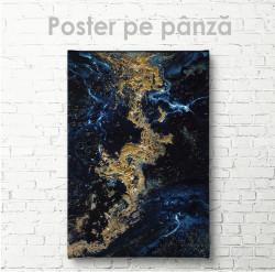 Poster, Albastru cu auriu