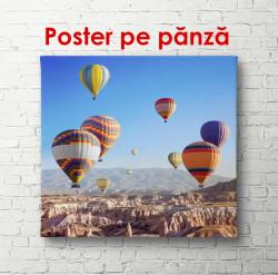 Poster, Baloane cu aer cald pe cer