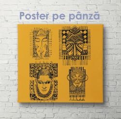 Poster, Desen etnografic în stil african