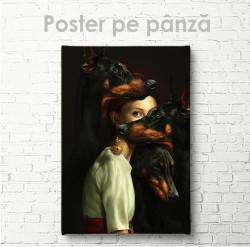 Poster, Domnișoara cu câini