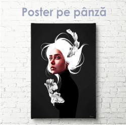 Poster, Fată cu părul alb