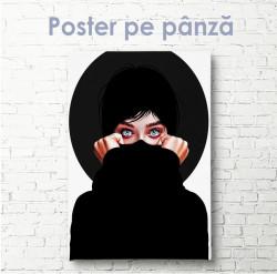 Poster, Fată în negru