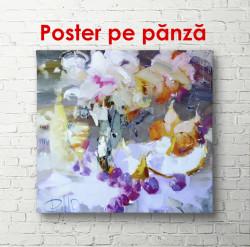 Poster, Pictură abstractă cu detalii violet