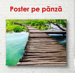 Poster, Podul din lemn lângă un lac