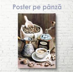 Poster, Set de cafea in stil vintage