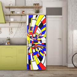 Stickere 3D pentru uși, Fantezia multicoloră, 1 foaie de 80 x 200 cm