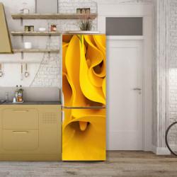 Stickere 3D pentru uși, Florile galbene se închid, 1 foaie de 80 x 200 cm