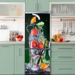 Stickere 3D pentru uși, Fructe și gheață , 1 foaie de 80 x 200 cm