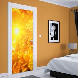 Stickere 3D pentru uși, În razele soarelui, 1 foaie de 80 x 200 cm