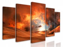 Tablou modular, Apus de foc aprins în deșert
