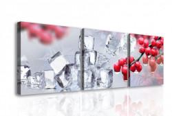 Tablou modular, Boabe roșii și cuburi de gheață