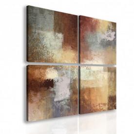 Tablou modular, Pete maro abstracte.