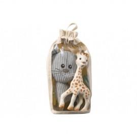 Set cadou Girafa Sophie si pisica Lazare din plus