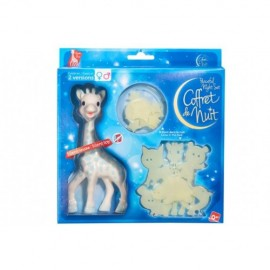Girafa Sophie bleu in set pentru noapte