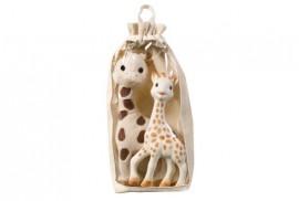 Vulli set girafa Sophie din cauciuc natural si girafa din plus