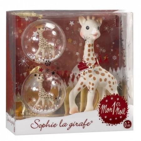 "Set cadou ""Primul meu Craciun Girafa Sophie"""