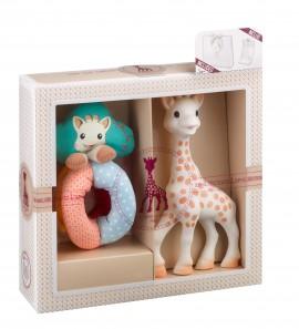 Set SOPHIEsticat Girafa Sophie + zornaitoare cu bile