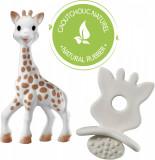 """Set Girafa Sophie si figurina din cauciuc pentru rontait So 'Pure"""""""