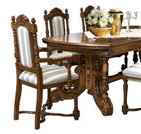 Masa extensibila din lemn masiv lucrat manual (270-360 cm x 120 cm) MAME-24