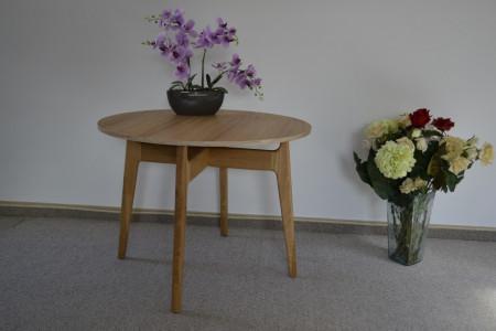 Masa rotunda din stejar cu platou din PAL cu furnir stejar natur MAMR-12