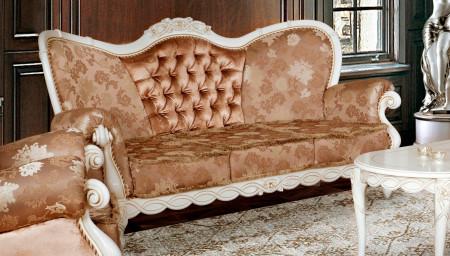 Canapea cu 3 locuri din lemn masiv MRFC-7