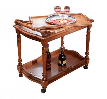 Masuta de servit (bar mobil) din lemn masiv MABM-1