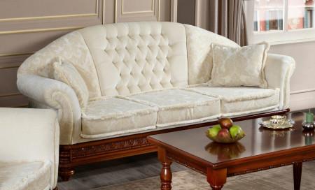 Canapea cu 3 locuri din lemn masiv MRFC-9