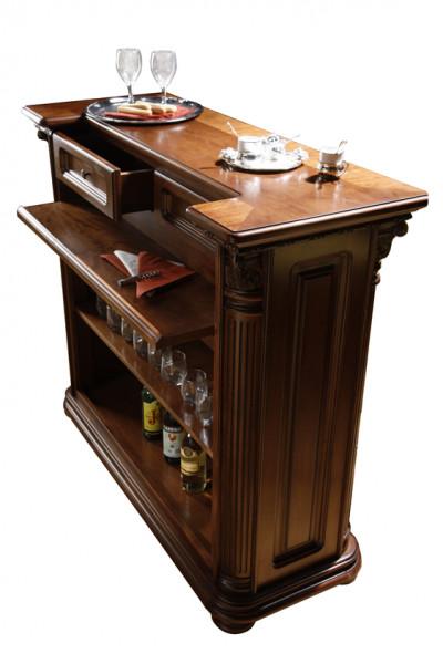 Bar din lemn masiv pentru acasa si restaurant bogat ornamentata in stil Rococo MDBA-4